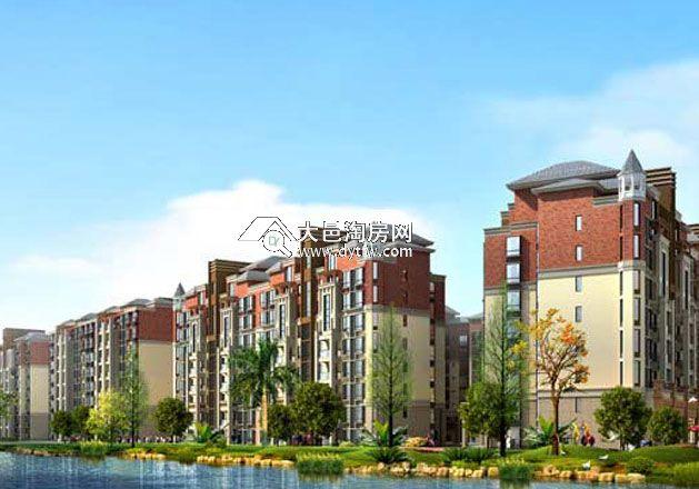 75亩,由7幢简欧式高品质的多层电梯公寓组成.