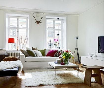 10款纯白色客厅设计