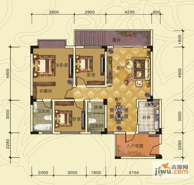 400平方米房子設計圖