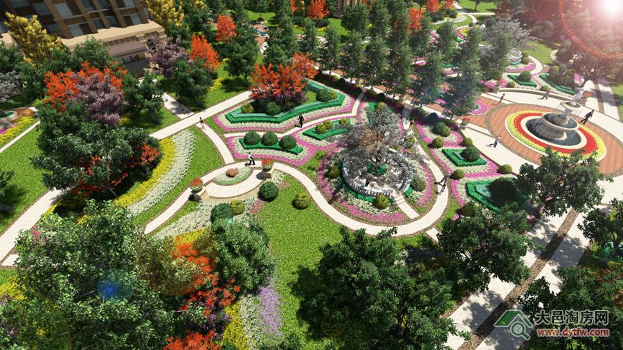 内景园林俯视图-力扬 时代效果设计图