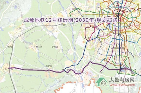 成都地铁12号线远期(2030年)规划线路