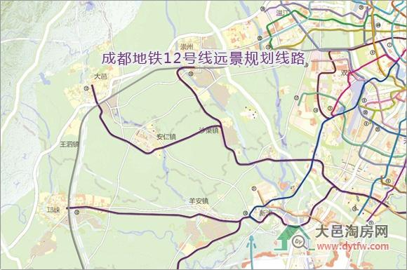 大邑楼市 > 浏览文章    在2030年之后的远景规划中,到达蒲江的地铁12
