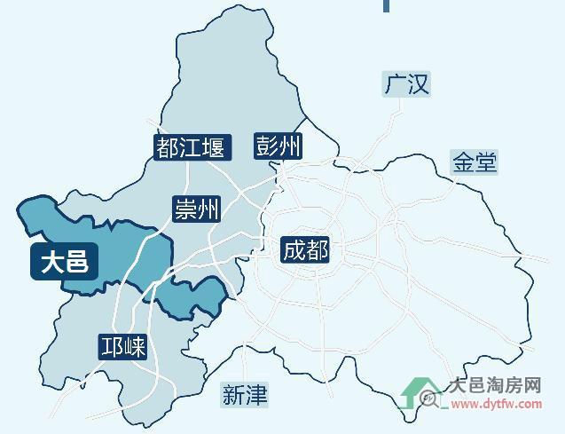 四川省大邑县地图